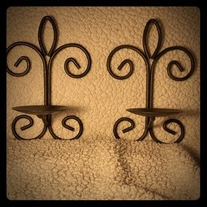 Other - Rustic Wall Scounces, set of 2 candle holders